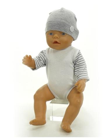 Большой подарочный комплект - зимний медведь - На кукле боди. Одежда для кукол, пупсов и мягких игрушек.