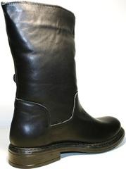 Полусапожки на низком ходу женские зимние кожаные черные на меху Tucino - 19.