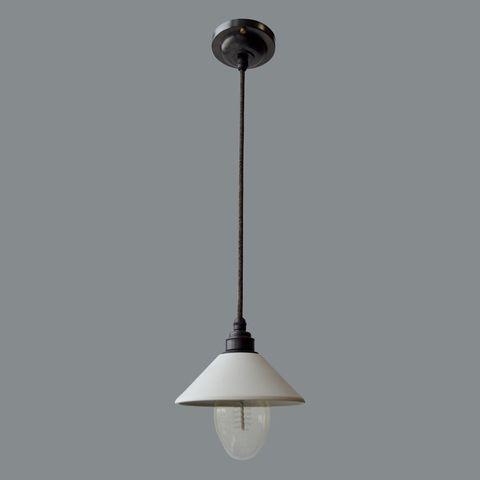 Подвесной светильник латунный c керамическим плафоном Dark Bronze Англия