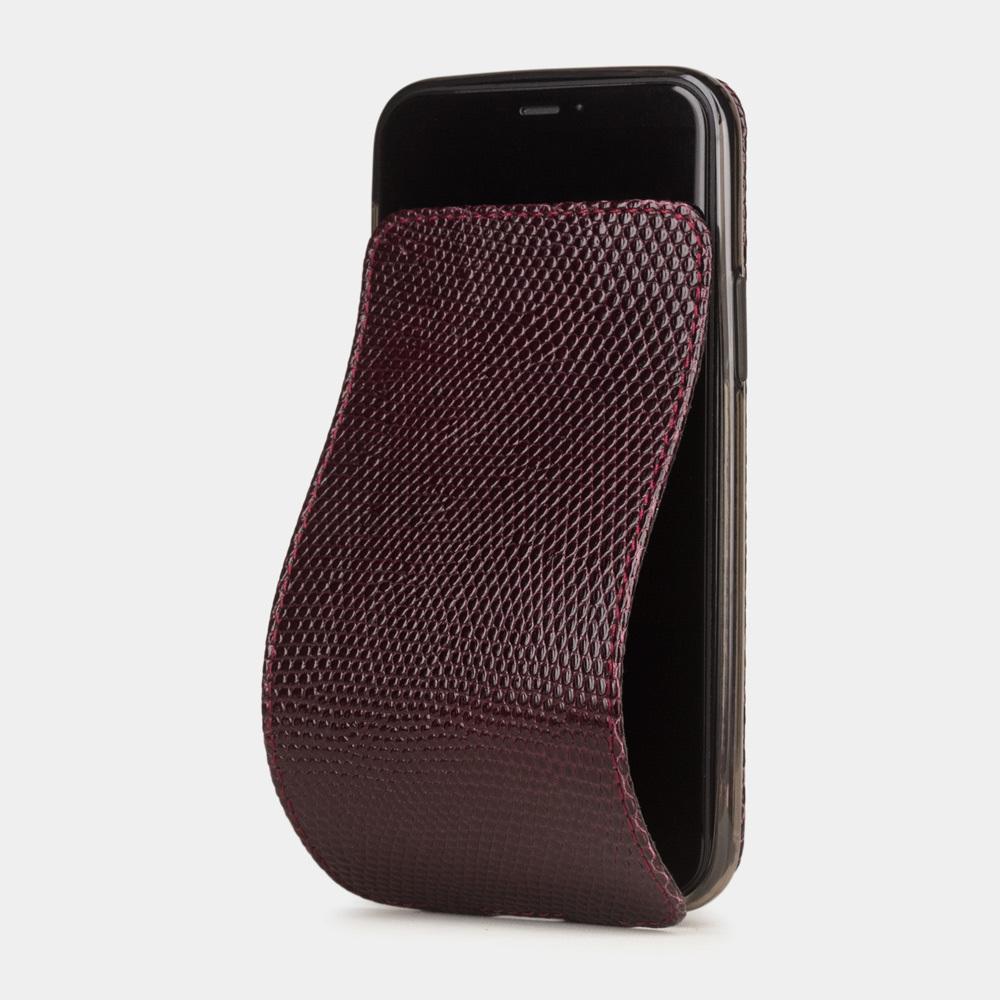 Special order: Чехол для iPhone 11 Pro Max из натуральной кожи ящерицы, бордового цвета