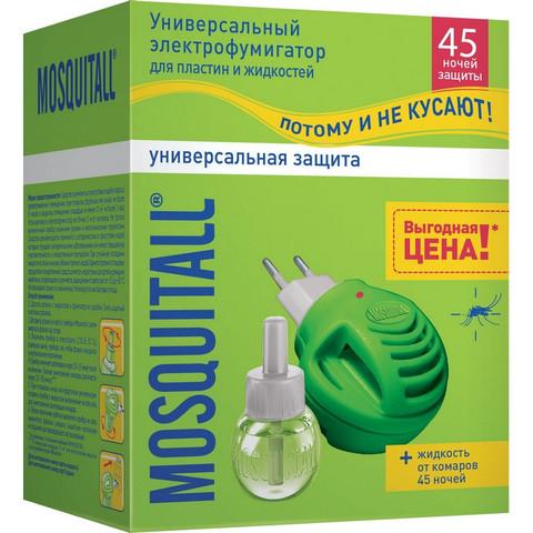Средство от насекомых Mosquitall От комаров фумигатор и жидкость 30 мл