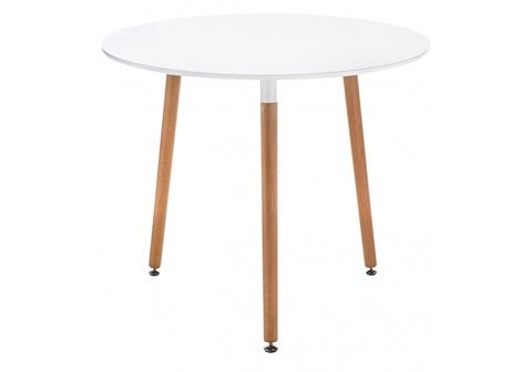 Стол деревянный кухонный, обеденный, для гостиной Lorini 90 90*90*73 Бук /Белый