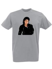 Футболка с принтом Майкл Джексон (Michael Jackson) серая 001