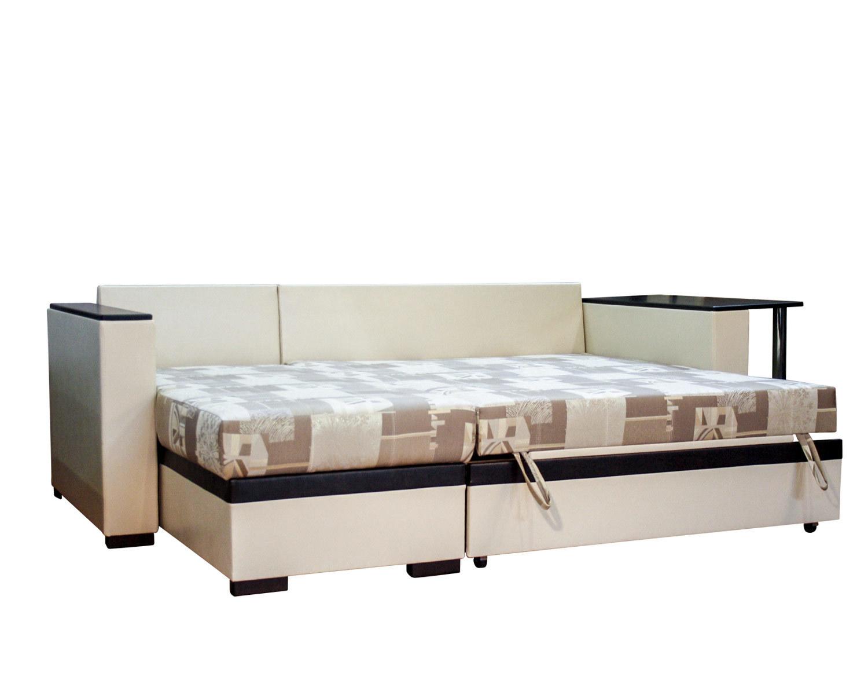 угловой диван-кровать Карелия-Люкс 2я2д со столом, спальное место 1900х1380 мм