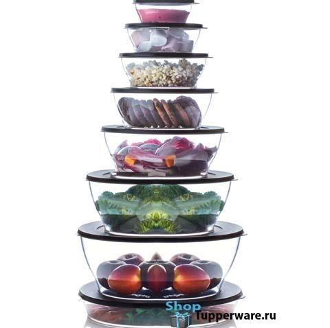 Набор чаш Кристалл - 7 чаш и блюдо