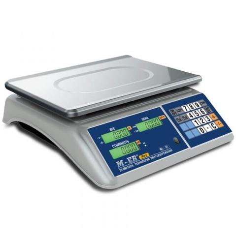 Весы торговые настольные Mertech M-ER 223AC-15.2 Mary, 15кг, 2гр, 325х260, с поверкой, без стойки