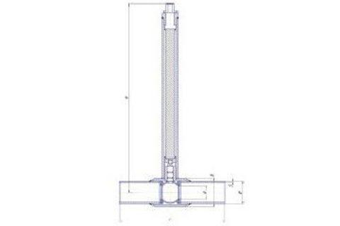 Конструкция LD КШ.Ц.П.GAS.400.025.П/П.02.Н=1500мм полный проход с редуктором