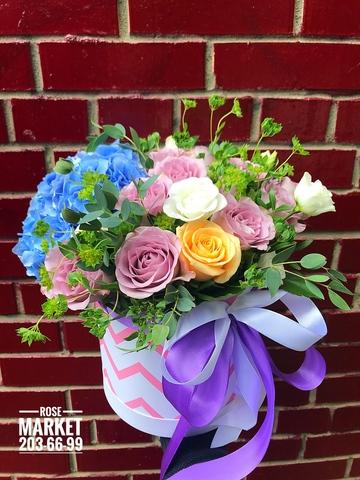 Цветы в шляпной коробке #16901