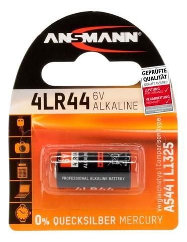 Батарейка щелочная 4LR44 ANSMANN 6V