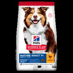 Корм для собак от 7 лет Hill`s Science Plan Mature Adult 7+ Active Longevity Medium, с курицей