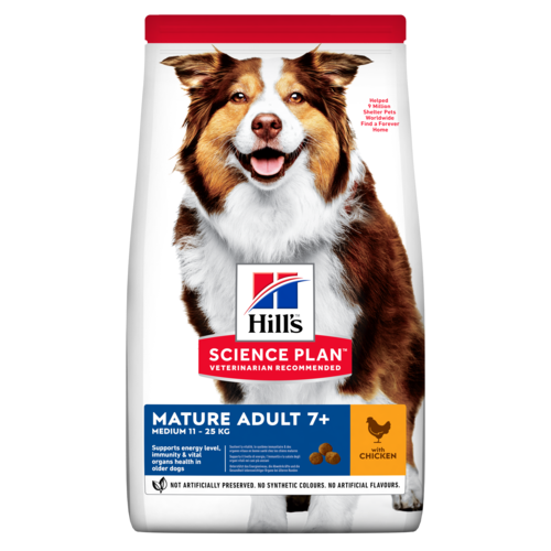 Сухой корм Корм для собак от 7 лет Hill`s Science Plan Mature Adult 7+ Active Longevity Medium, с курицей sp-canine-science-plan-mature-adult-7-plus-active-longevity-medium-with-chicken-dry-productShot_.png