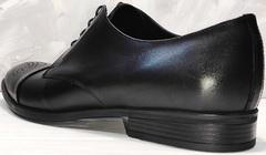 Мужские модельные туфли под классические брюки Ikoc 2249-1 Black Leather.