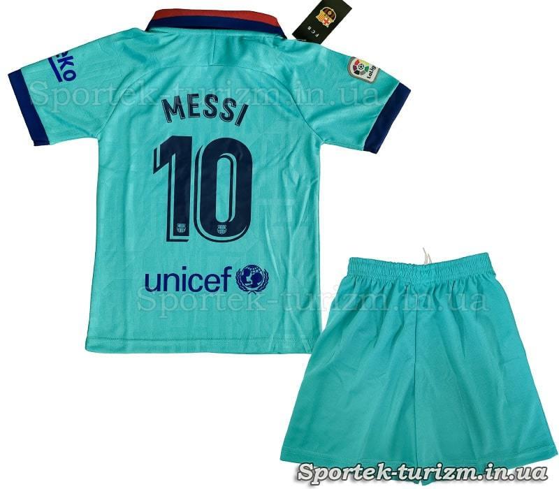 Вигляд ззаду футбольної форми BARCELONA MESSI 10 CO-0976