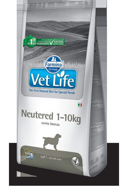 Сухой корм Корм для собак до 10 кг, FARMINA Vet Life Neutered, для стерилизованных/кастрированных farmina-vet-life-canine-neutered-1-10kg_web.png