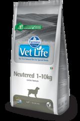 Корм для собак до 10 кг, FARMINA Vet Life Neutered, для стерилизованных/кастрированных