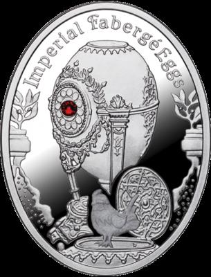1 доллар. Яйцо Петушок - Императорские яйца Фаберже. Ниуэ. 2012 г.