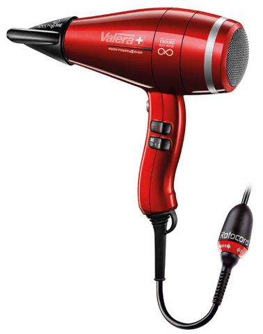 Фен Valera Swiss Power4ever, 2400 Вт, 2 насадки, красный