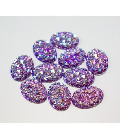 62 стразы овальные фиолетовые 10 шт