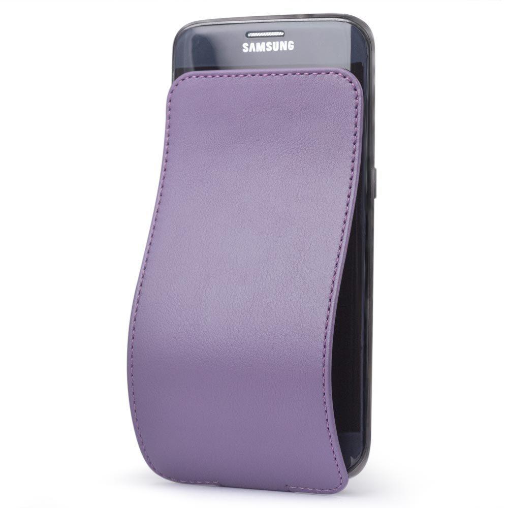Чехол для Samsung Galaxy S7 edge из натуральной кожи теленка, фиолетового цвета