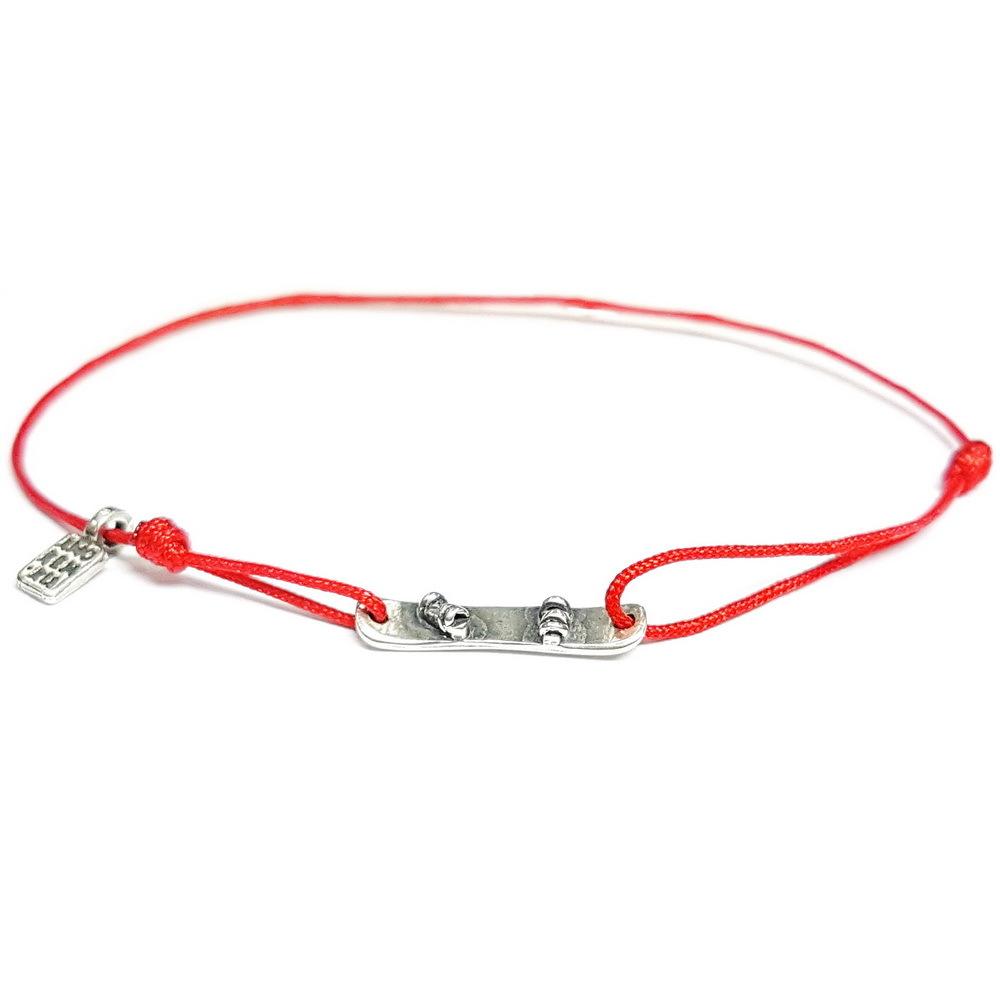 Snowboard Bracelet, sterling silver
