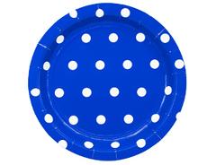 Тарелка Горошек синяя
