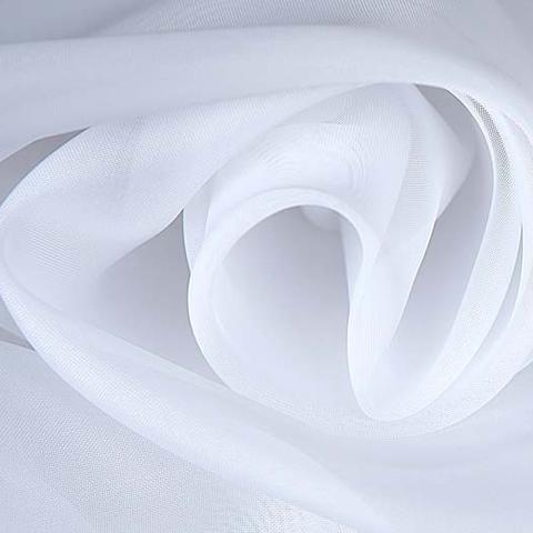 Ткань вуаль без утяжелителя однотонная для штор - белый. Ширина - 300 см. Арт. 1