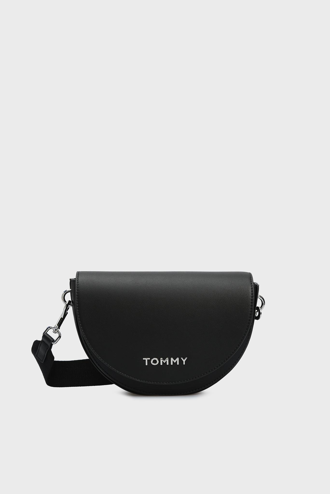 Женская черная сумка через плечо STAPLE SADDLE Tommy Hilfiger
