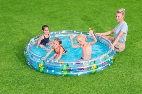 Бассейн детский надувной круглый Подводный мир 183х33см,480л 51005