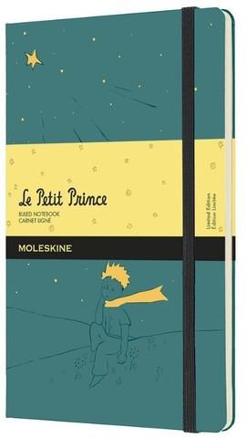 Блокнот Moleskine Le Petit Prince Large (LEPP03QP060A) 130х210 мм 192 стр линейка твердая обложка зеленый