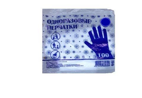 Перчатки ПЭ однораз. ПНД L 100 шт/упак