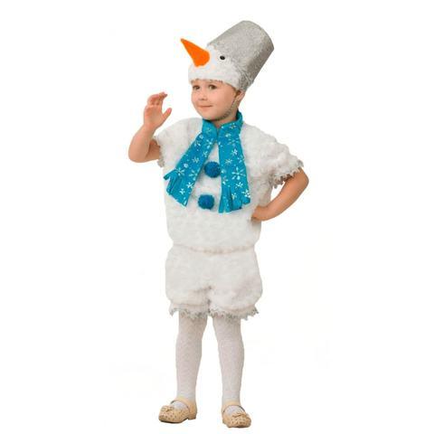 Детский карнавальный костюм Снеговичок