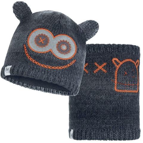 Комплект детский шапка-шарф Buff Monster Jolly Black фото 1