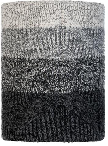 Вязаный шарф-труба с флисом Buff Neckwarmer Knitted Polar Masha Grey фото 1