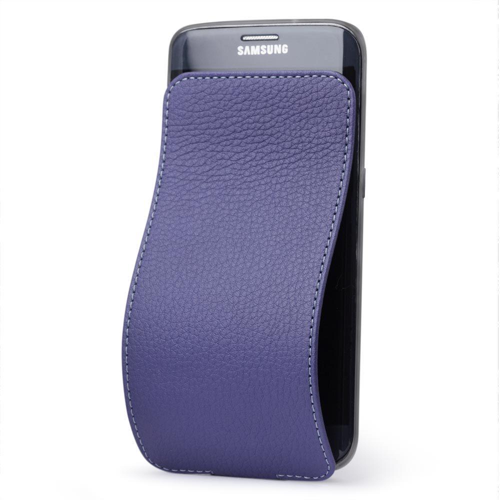 Чехол для Samsung Galaxy S7 edge из натуральной кожи теленка, цвета сирени