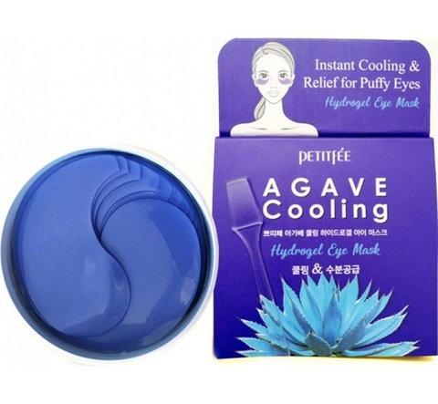 PETITFEE Набор патчей д/век гидрогел. АГАВА Agave Cooling Hydrogel Eye Mask, 60 шт