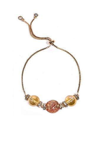 Браслет со стразами красно-золотой Franchesca Ca'D'oro Rubino 456O