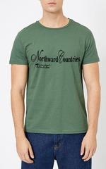 461493-35 футболка мужская, зеленая