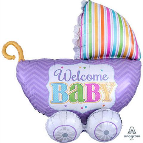 Шар фигура Коляска WELCOME BABY
