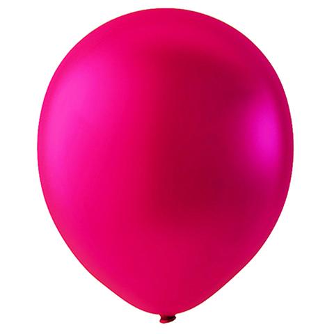 Шар Темно-розовый Металлик, 30 см