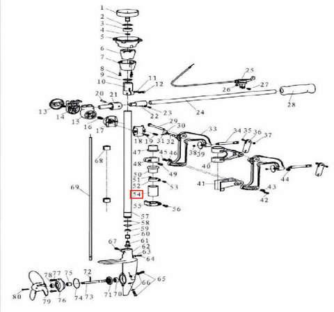 Втулка поддерживающая для лодочного мотора T3,5 Sea-PRO