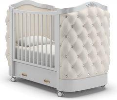 Кровать детская Тиффани декор стразы белая ночь