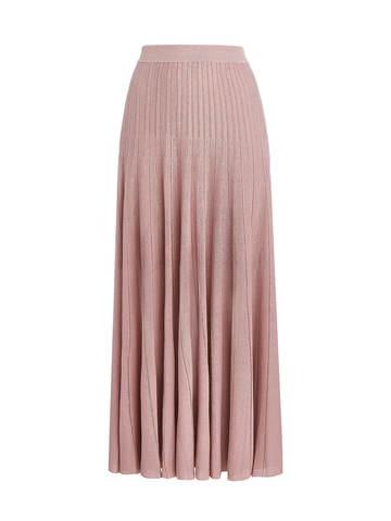 Женская юбка-плиссе светло-розового цвета из вискозы - фото 1