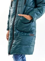 Пальто для девочки Классик малахит