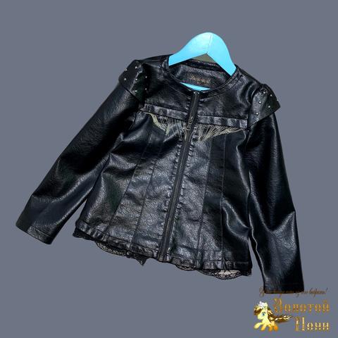 Куртка эко-кожа девочке (5-13) 210524-К74027