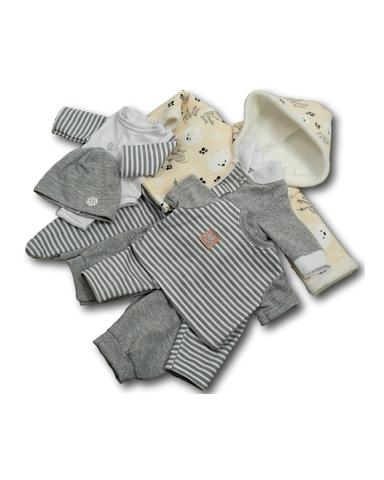 Большой подарочный комплект - зимний медведь - Кремовый. Одежда для кукол, пупсов и мягких игрушек.