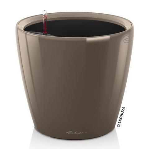 16045 Кашпо LECHUZA Классико 28 LS Серо-коричневое с системой полива и съемным горшком