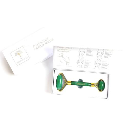 Роллер из натурального камня - зелёный авантюрин