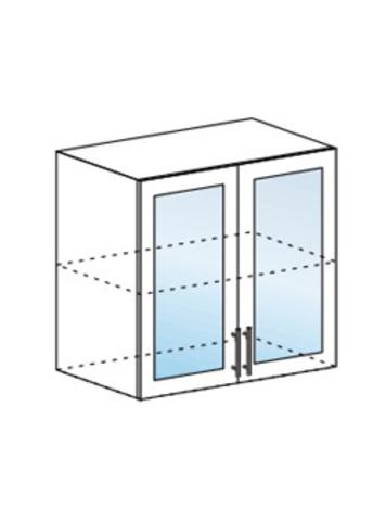 Шкаф верхний со стеклом 800