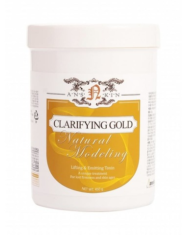 Маска альгинатная лифтинг-эффект Anskin Natural Clarifying Gold Modeling Mask, 450гр/ 700мл