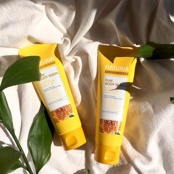 Увлажняющий гель для душа Evas Naturia Pure Body Wash Honey & White Lily